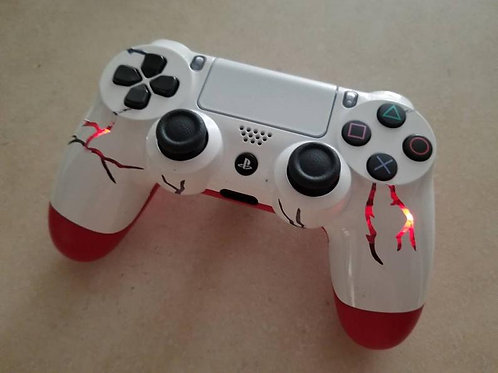 Ps4 led controller • red ice storm