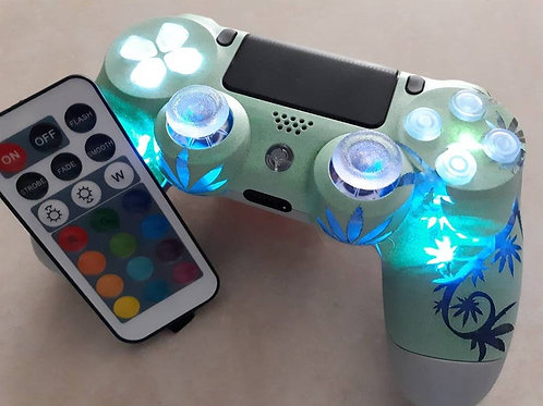 PS4 wireless Smart 420 controller LED+Remote Fernbedienung Mary Jane