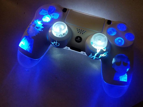 PS4 Rick and Morty version 2 techfire controller • led light up • custom control