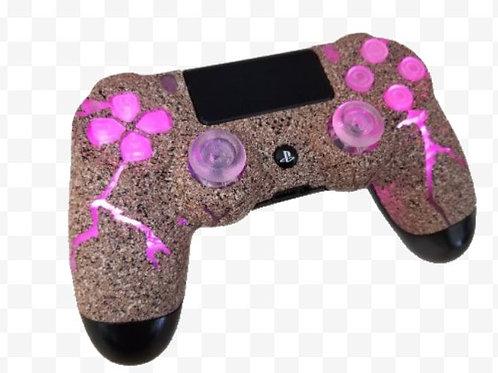 "PS4 TechFire PINK ""Broken Rock"" custom PS4 controller LED stone gaming *"