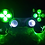"Thumbnail: PS4 TechFire LED wireless controller ""Monster green"""