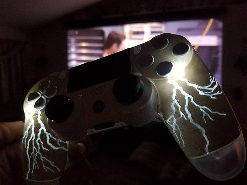 TechFire custom PS4 wireless controller • lightning power controller • faceplate