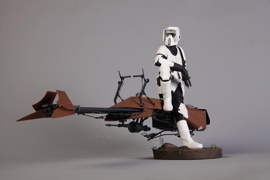 Atay_Gergin_Scout_Trooper_on_Speeder_Bik