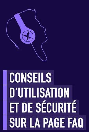 CONSEILS DE SÉCURITÉ SUR LA PAGE FAQ