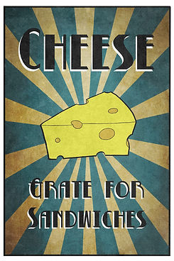 Cheese pun. Cheese: Great for Sandwiches