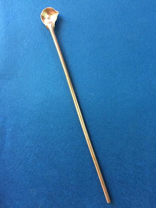 Cucharita de cobre mango largo