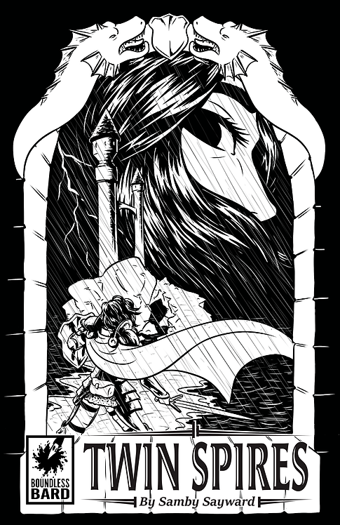 """Twin Spires"" B/W Edition - A Daughters of Grimm Comic"