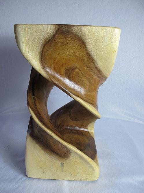 Monkey wood stool