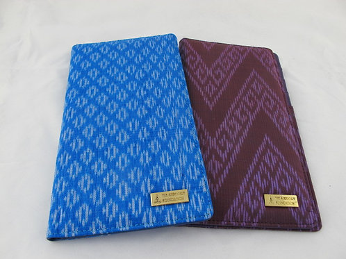 Passport and flight ticket organizer made from Silk