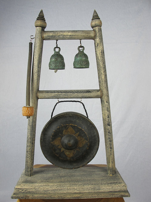 Kong and Bell Thai style on Teak Frame Hanger