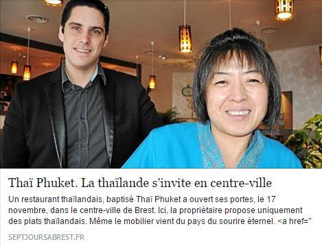 Thaï Phuket. La Thaïlande s'invite en centre-ville