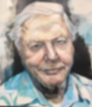 Tom Byrne portrait of David Attenborough