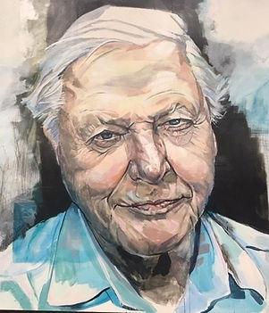 Tom Byrne portrait of David Attenborough