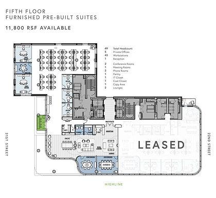 Prebuilt Furnished Suites - Fifth Floor.