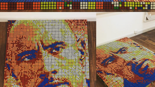 Rubik's Turned Portrait