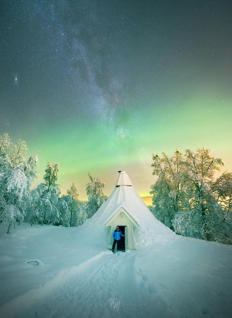 Milky Way and teepee