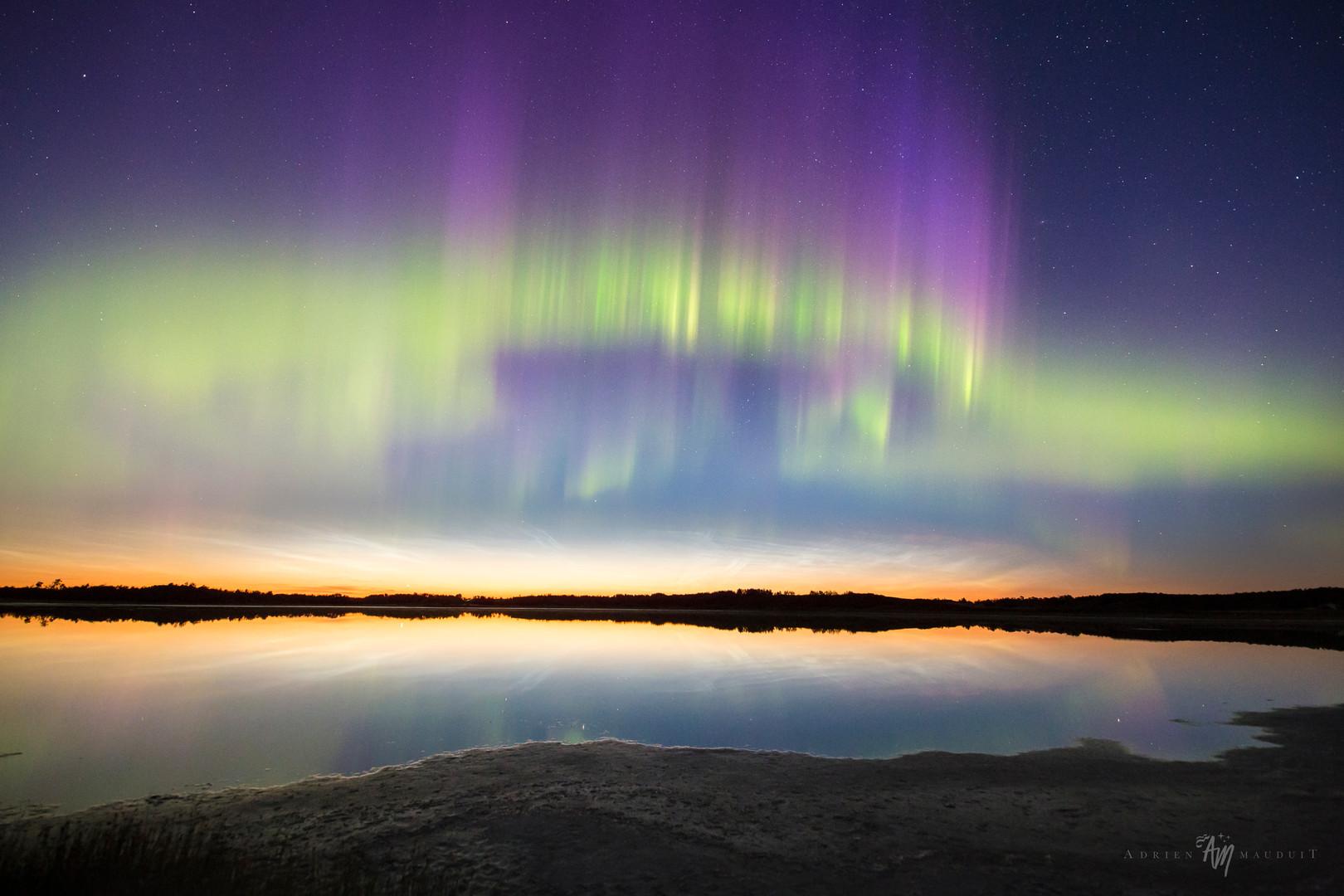 NLC and aurora in Canada
