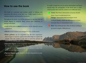 It is not your typical paperback book. We utilized all the advantages of having a digital book to include interactive figures, pop-over boxes to reveal text, images and definitions, an interactive glossary, videos, expandable diagrams to give the reader an immersive experience.   We also made sure to include color-coded difficulty levels in order for the reader to ID and target content depending on their level.
