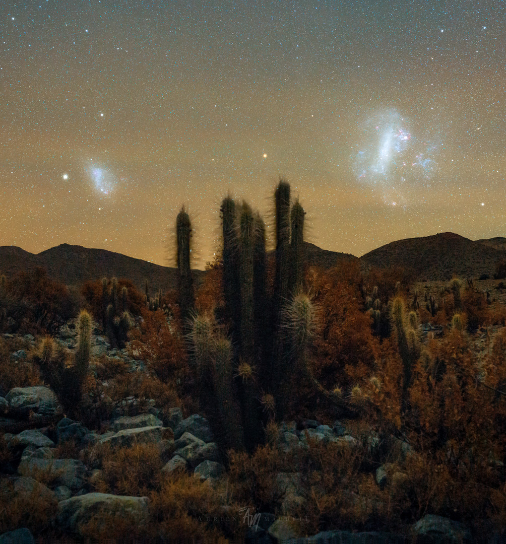 Stuck between two galaxies in the Chilean desert