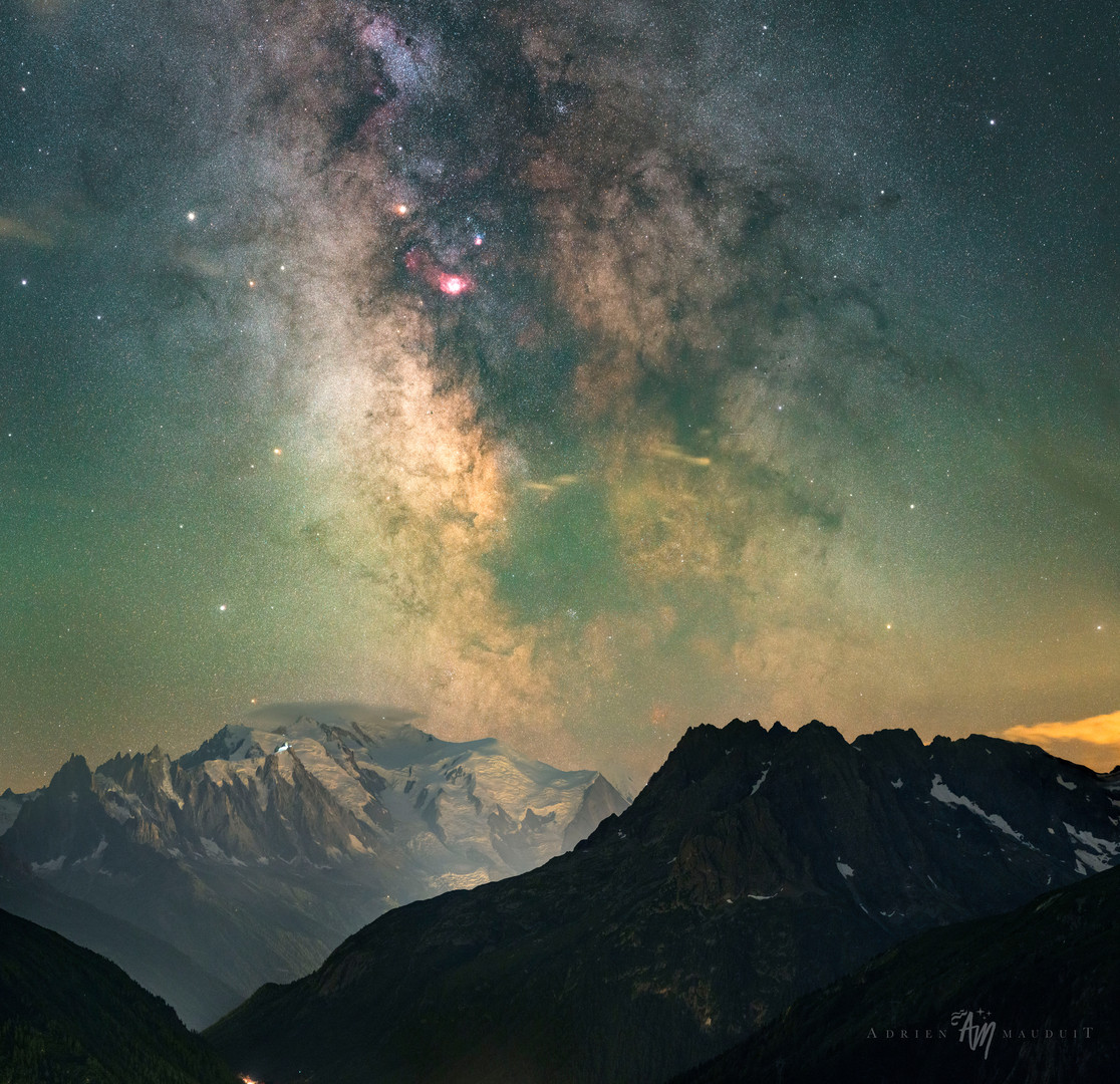 Milky way core over Mont Blanc
