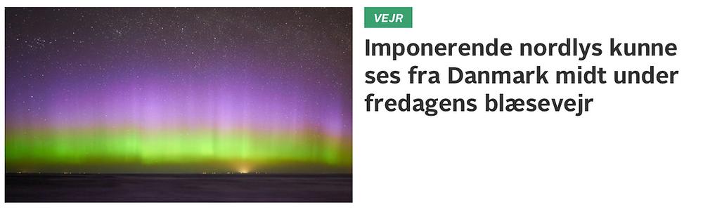 TV2 Vejr's article