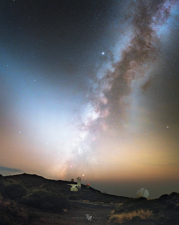 Zodiacal lights on La Plama