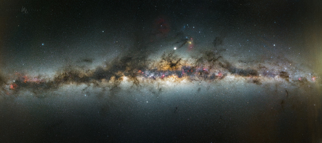 Milky way span panorama