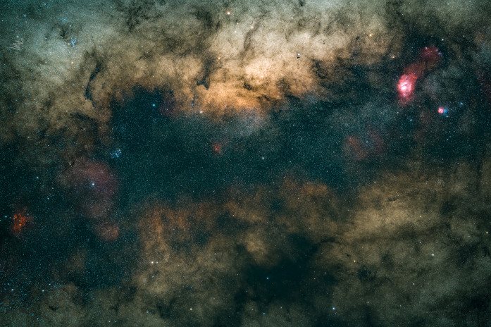 Stacked milky way core