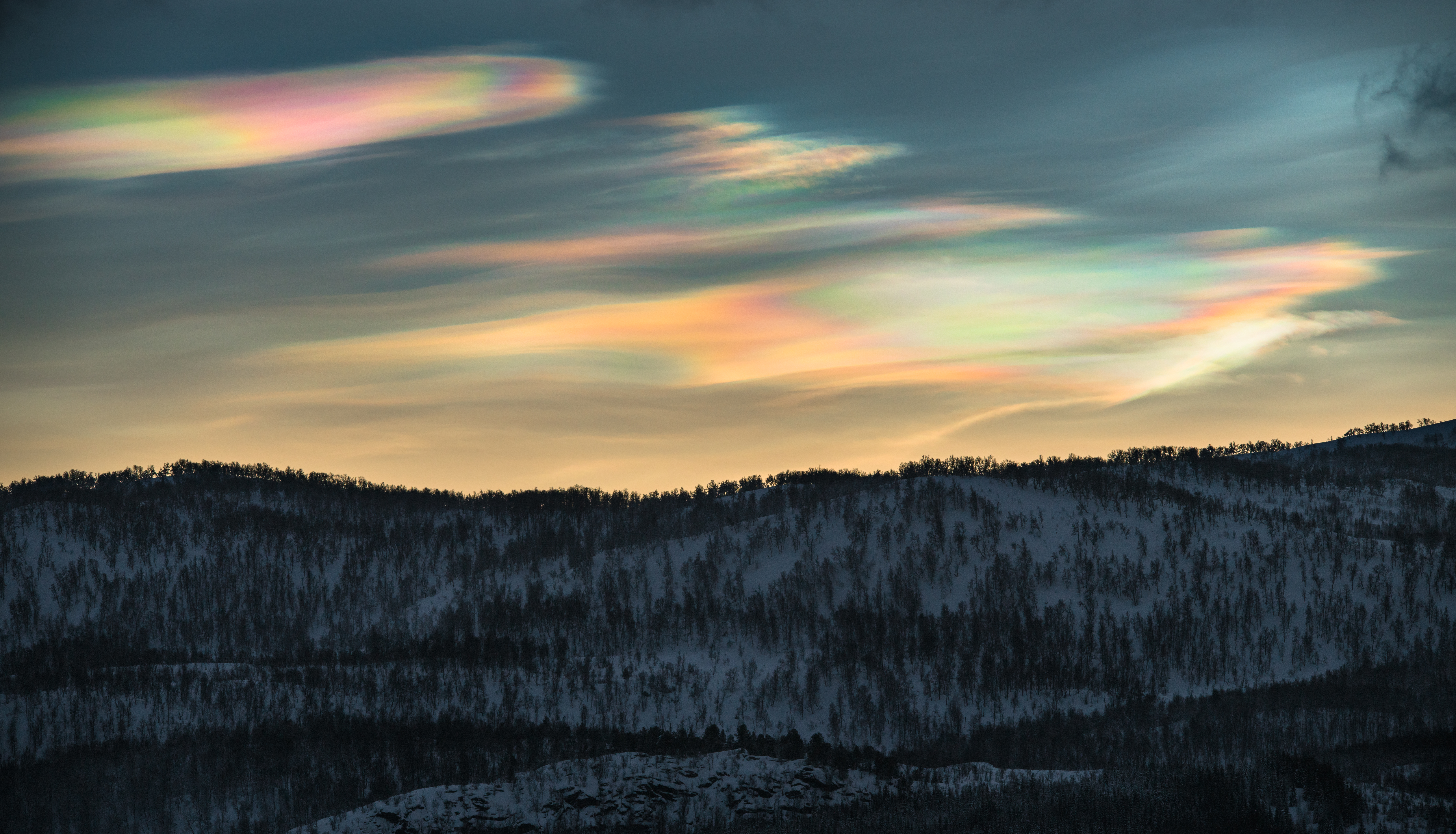 Mother of pearl clouds from Norway!