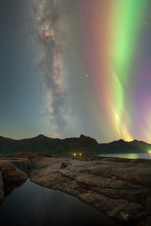 Senja milky way and aurora