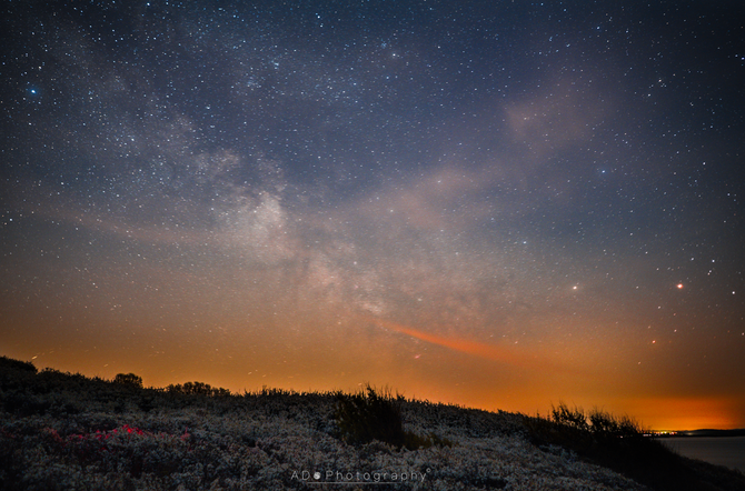 Early may nights: best for Danish milky way!