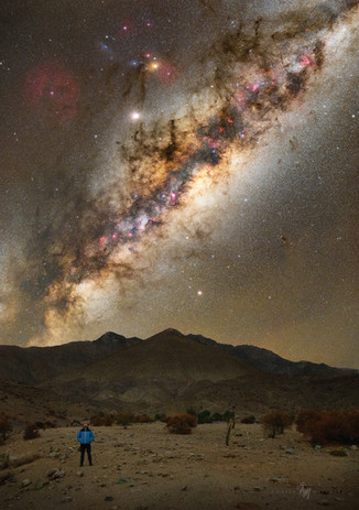Milky way over the Chilean desert