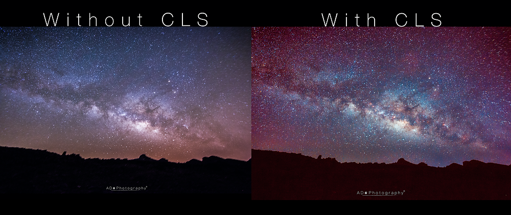 Comparison without/with CLS filter