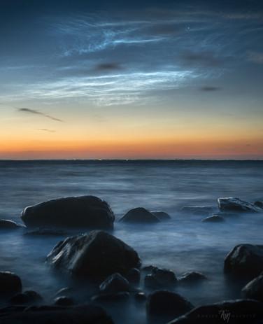 Danish night shining clouds