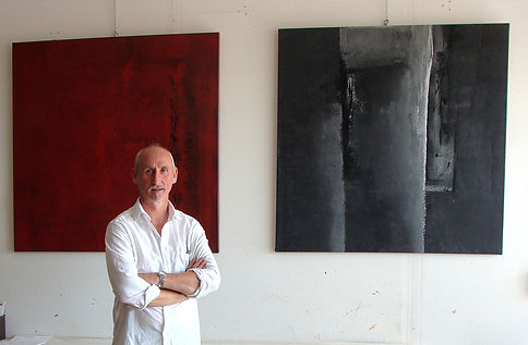 Stages Cours peinture abstraite aveyron, galerie, eric chesneau
