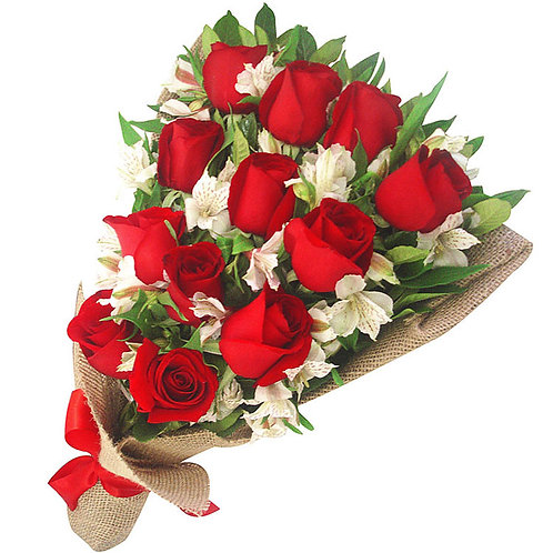 Bouquet with 12 Roses