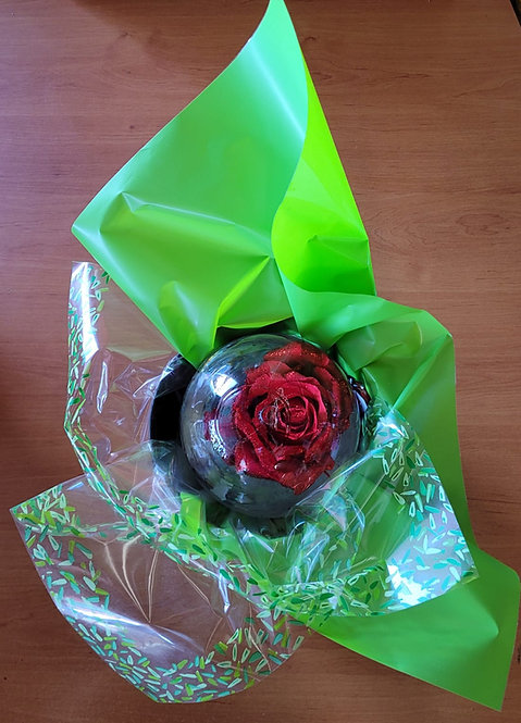 Water Globe Fresh Rose