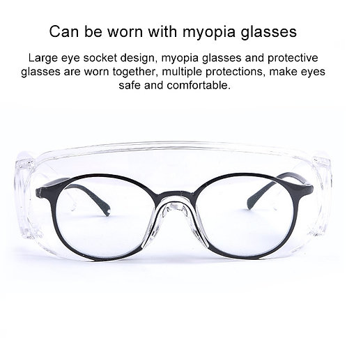Clear Vented Safety Goggles Eye Protection Protective Lab Anti Fog Glasses