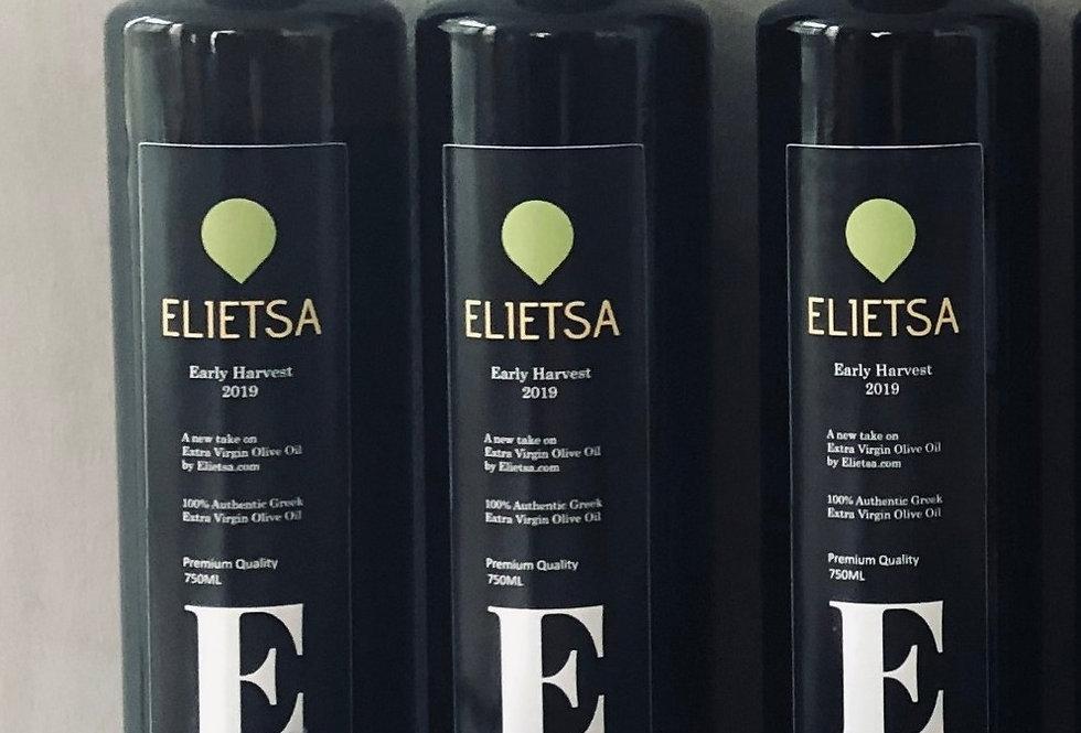 Elietsa Extra Virgin Premium Quality   3 x 0.75L