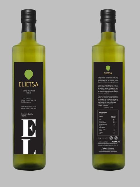 Elietsa Extra-Virgin Olive Oil | Early Harvest 2019