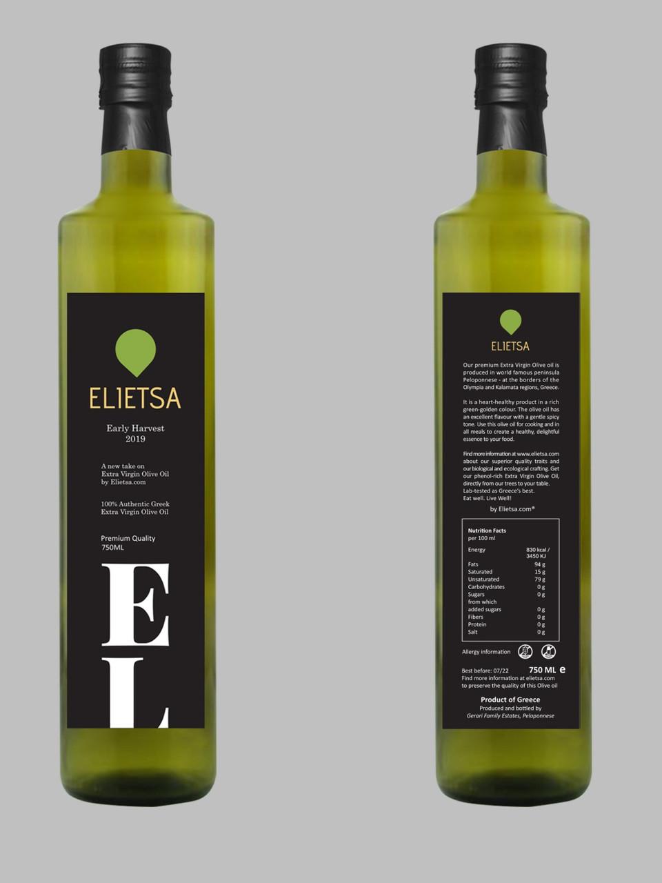 Elietsa Extra-Virgin Olive Oil   Early Harvest 2019