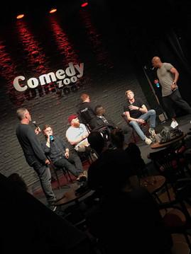 Dave Chapelle og Jon Stewart på scenen