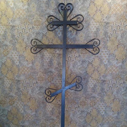 Крест металлический №08