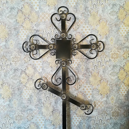 Крест металл №05