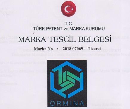 Ormina Marka Tescil Belgesi 2018-09-16 0