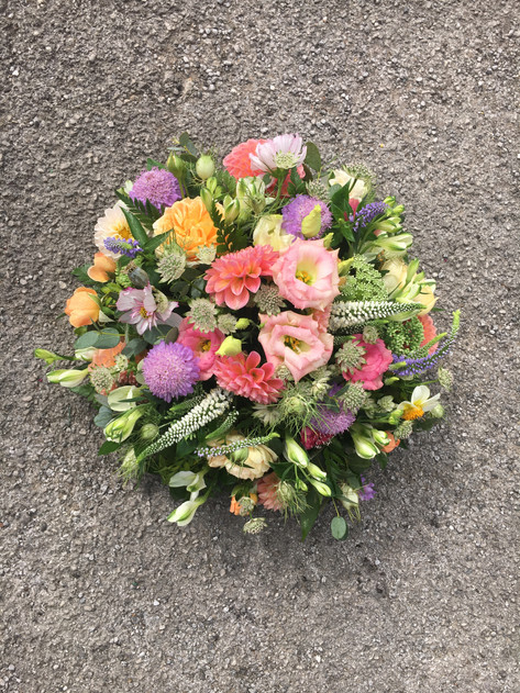 Posy pad in pastel shades