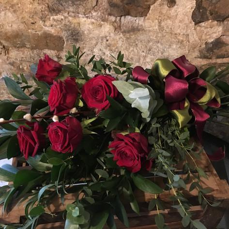 Valentines bouquet tied wth luxury ribbon