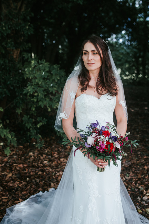 Woodland theme wedding bouquet