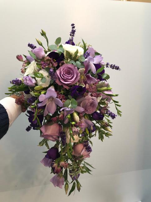 Purple, lilac & mauve bouquet