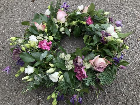 Biodegradeable wreath